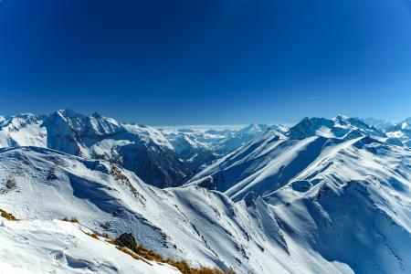 Landschaftsfotografie: Aufnahme der Alpen im Salzburger Land vom Aussichtspunkt der Schwarzwand