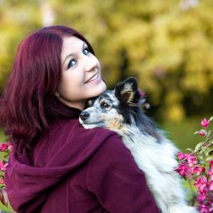 Tier- und Menschfotografie in der Schweiz: Anouchka und Lerry in den Mandelblüten