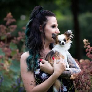 Portrait von Vanessa und ihrer Bambi