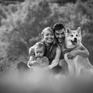Fotoshooting mit der gesamten Familie