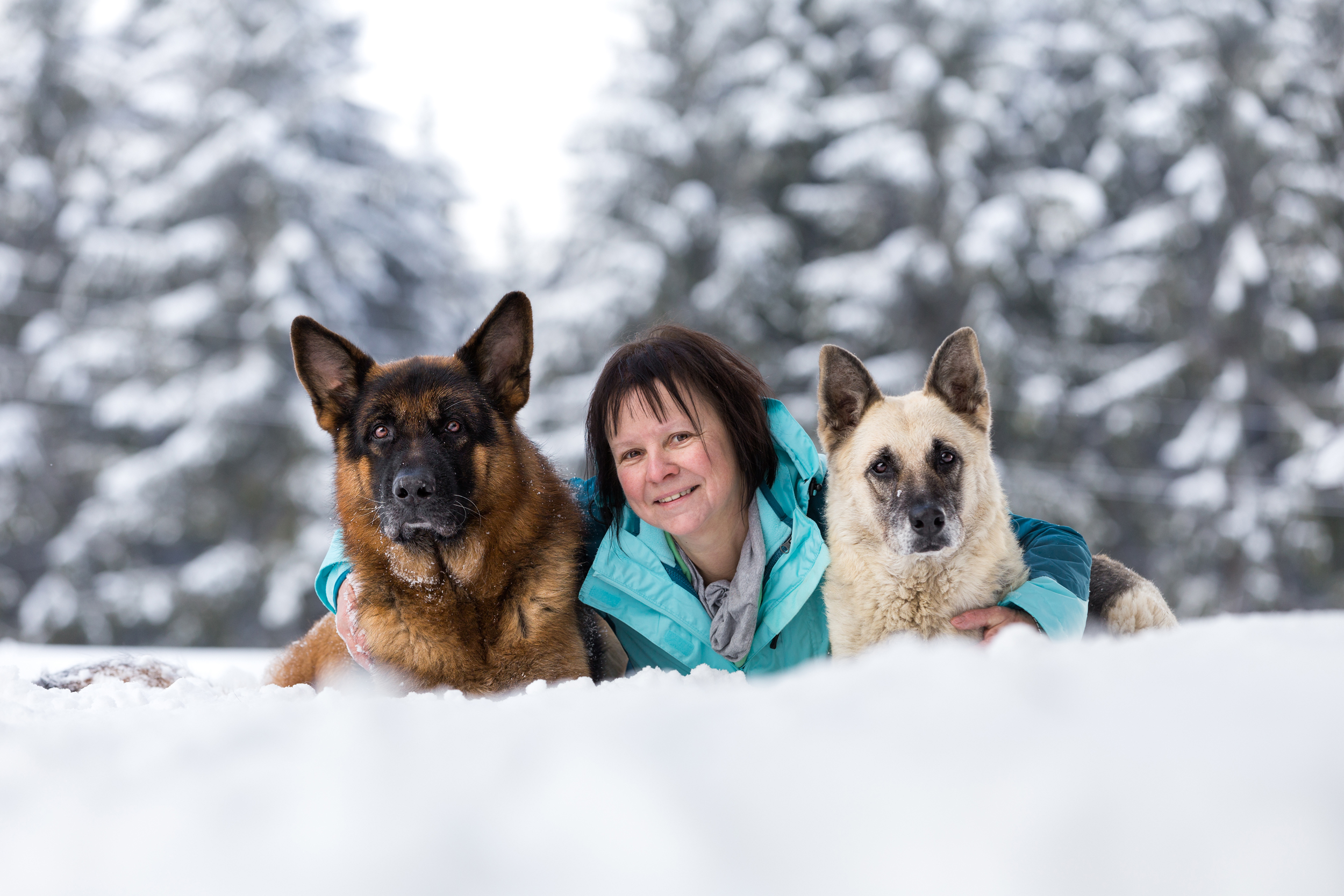 Tier- und Menschfotografie rund um Basel: Wir hatten einen richtig schönen Tag im Schnee