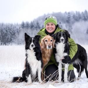 Freundschaft zwischen Hund und Mensch