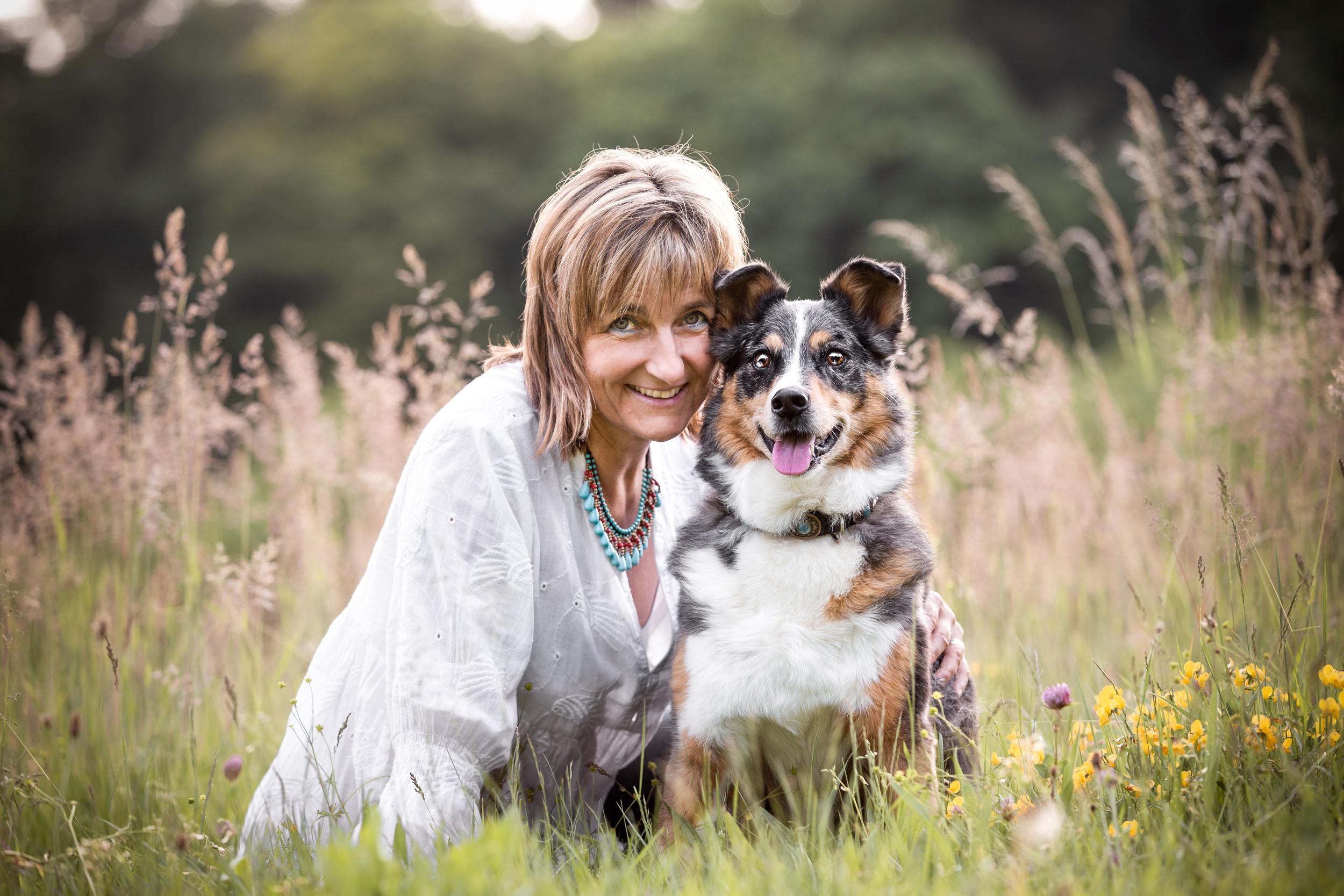 Hund und Mensch im Portrait