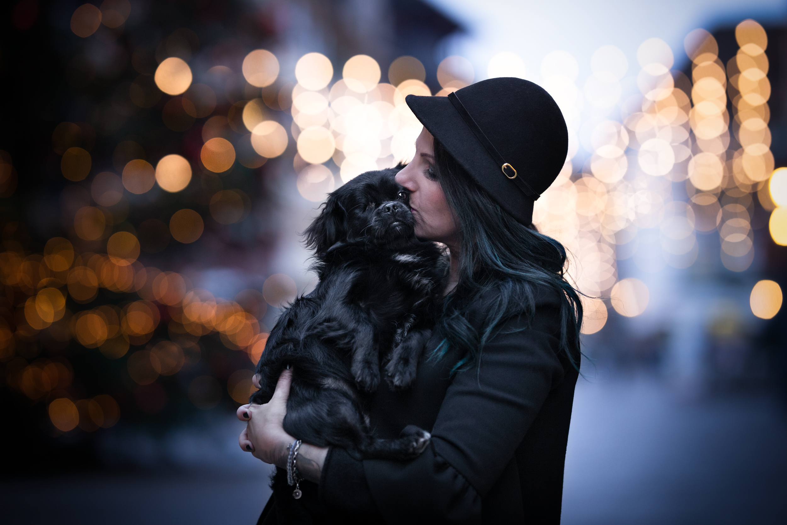Tier-und Menschfotografie in weihnachtlicher Stimmung Rheinfelden Schweiz Photo-Passion